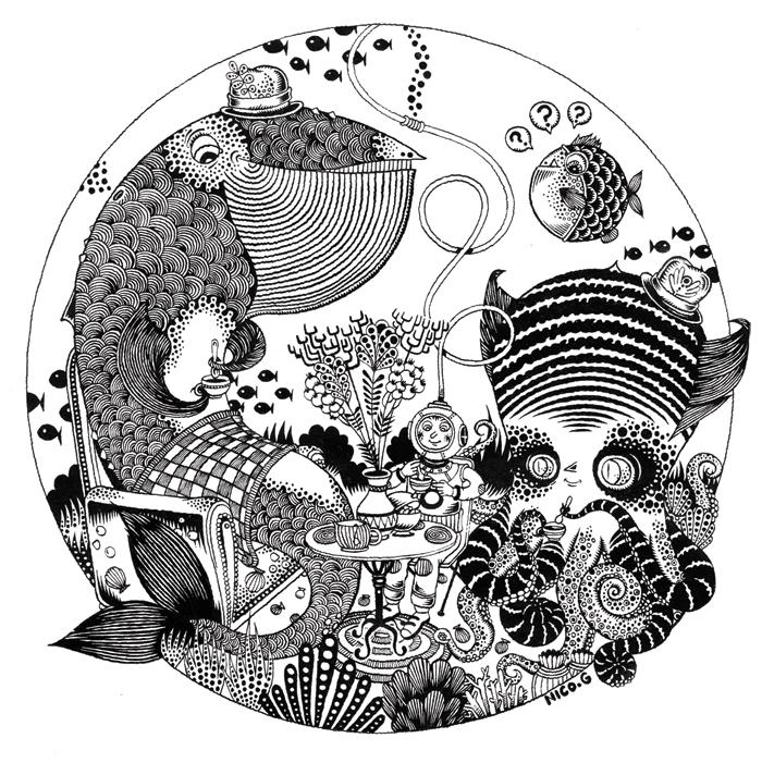 thé marin N&B